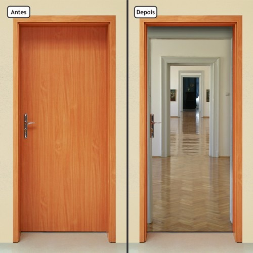adesivo decorativo de porta - portas - 237mlpt
