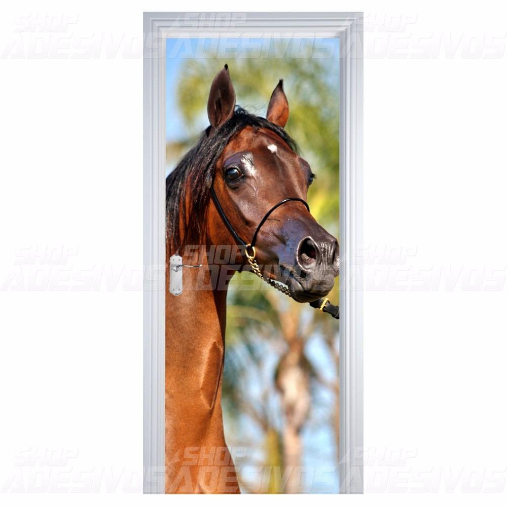 Adesivo Decorativo De Porta Sala Quarto Madeira Cavalo R 85 00 Em  -> Fts De Cavalo Rm Adesivo Pra Quarto