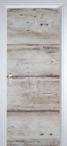 adesivo decorativo de porta - texturas madeira 2