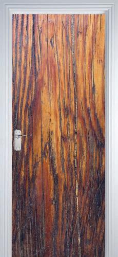 adesivo decorativo de porta - texturas madeira 3 m