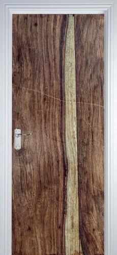 adesivo decorativo de porta - texturas madeira 4
