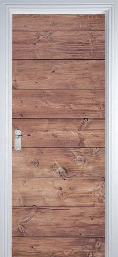 adesivo decorativo de porta - texturas madeira 7