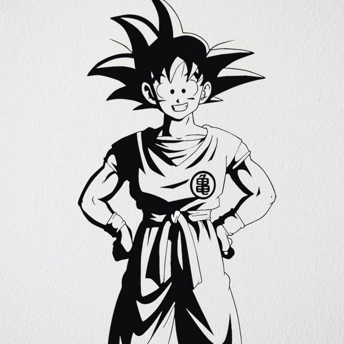 Dragon Ball R R Manga: Adesivo Decorativo Dragon Ball Goku Anime Manga