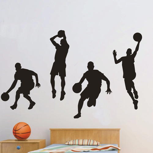 adesivo decorativo esporte basquete (120x079)cm