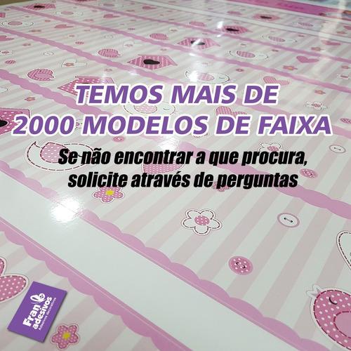 adesivo decorativo faixa barbie
