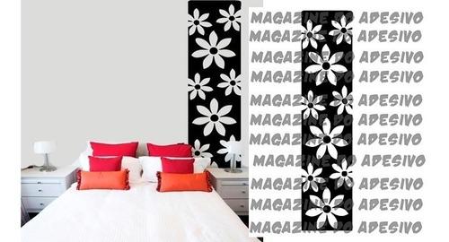adesivo decorativo faixa floral (45x197)cm
