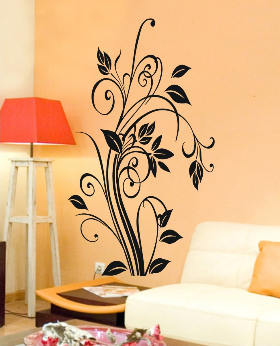 Adesivo Dente Provisorio ~ Adesivo Decorativo Florais Arabescos Flores Flor Sala
