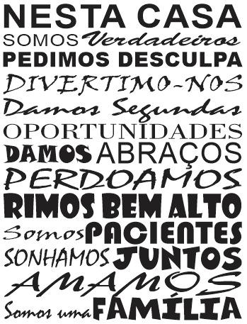 Adesivo Decorativo Frase Amor Familia Uniao 58cm X 90cm R 74 90