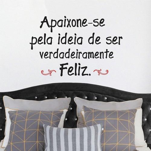 adesivo decorativo frase apaixone-se (150x097)cm