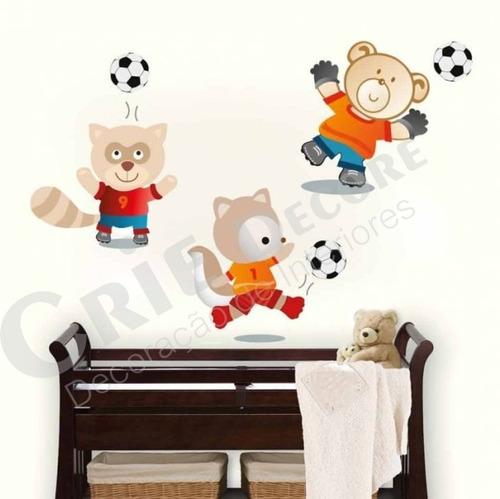 adesivo decorativo futebol animal