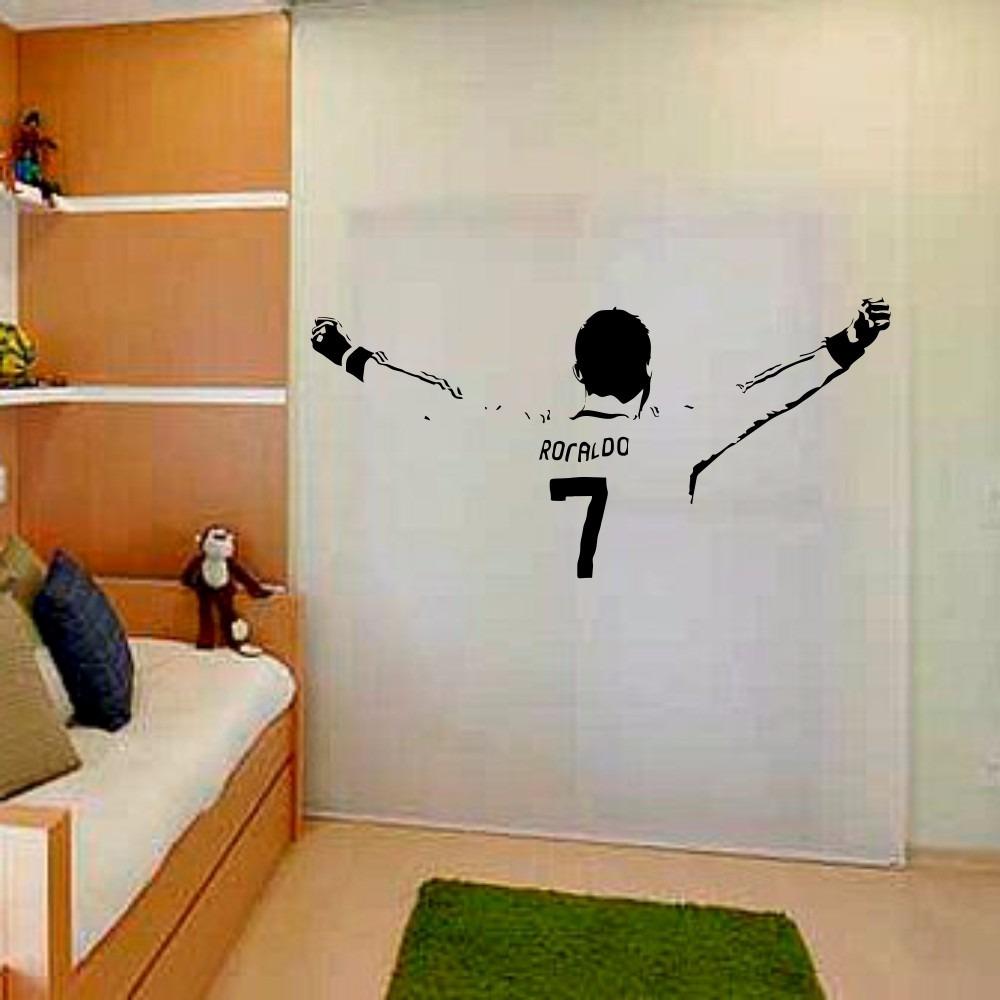 b2439695f Adesivo Decorativo Futebol Cr7 Braços Aber Cristiano Ronaldo - R ...