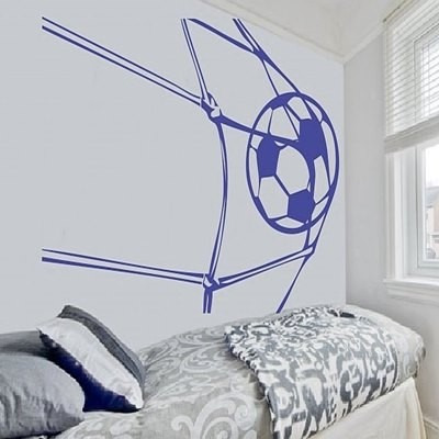adesivo decorativo futebol gol (95x63)cm - frete gratis