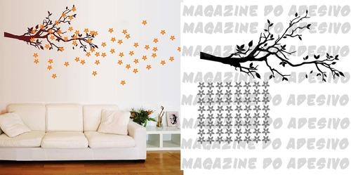 adesivo decorativo galho florido (110x100)cm