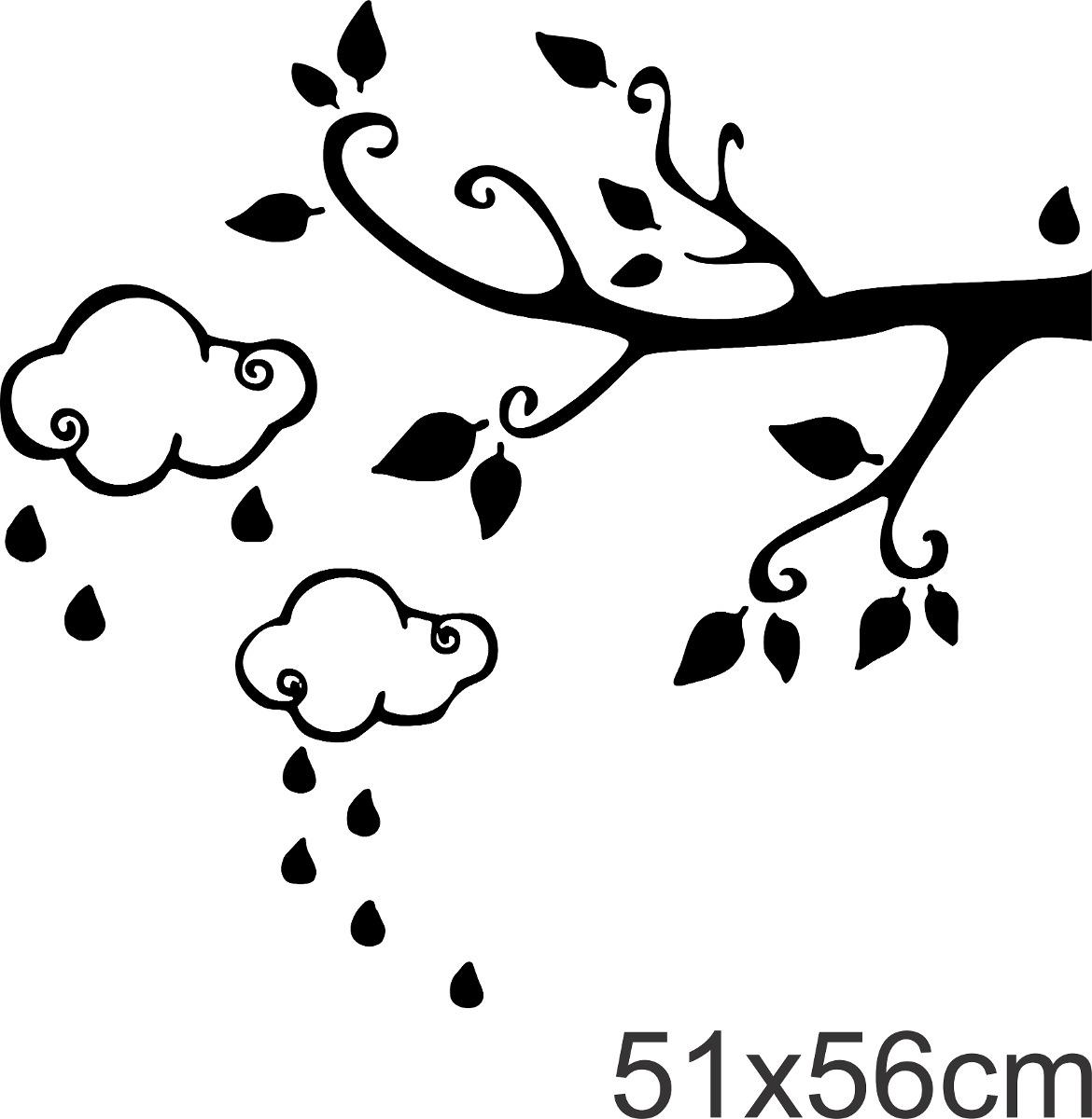 Adesivo decorativo galho nuvem infantil desenho papel - Papel decorativo infantil para paredes ...