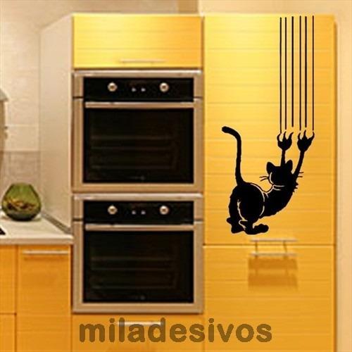adesivo decorativo - gato, gatinho arranhando a parede