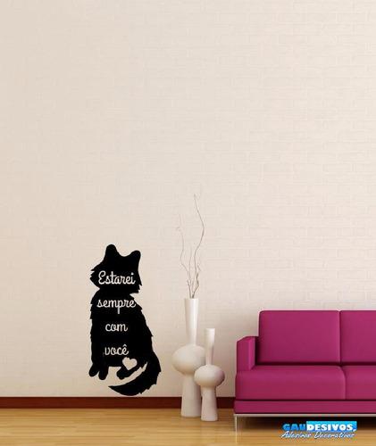 adesivo decorativo gato mensagem de carinho