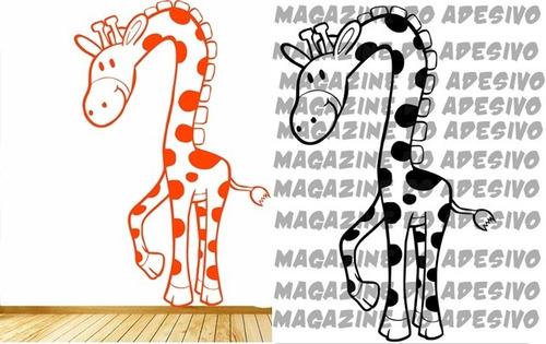 adesivo decorativo girafa encurvada (42x65)cm
