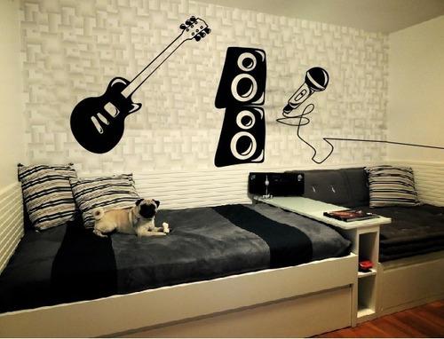 adesivo decorativo guitarra musical (72x100)cm