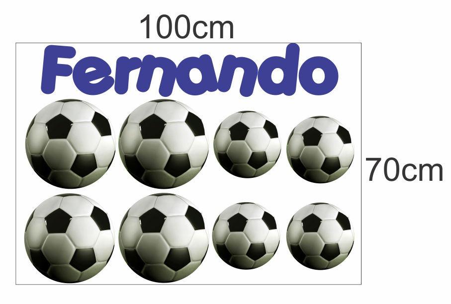 c4761adcfc Adesivo Decorativo Infantil Bolas Futebol Quartos E Festas - R  34 ...