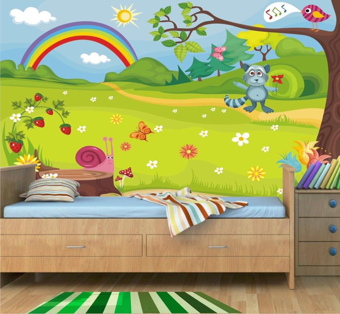 Adesivo Decorativo Infantil Floresta Encantada Animais Mod02 R  ~ Paredes De Gesso Para Quarto E Quarto De Bebe Floresta