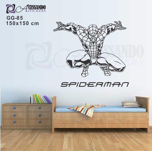 adesivo decorativo infantil - homem aranha - grande - novo