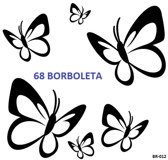 Adesivo Para Levantar Mama Funciona ~ Adesivo Decorativo Kit Com 68 Borboletas, Parede, Carro, Box R$ 24,99 em Mercado Livre