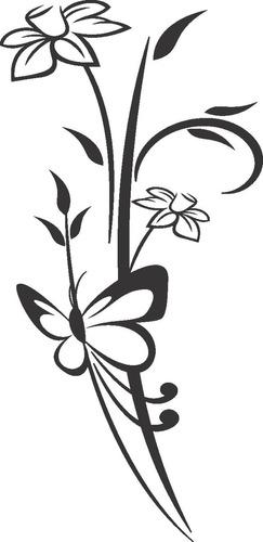 adesivo decorativo kit floral 10 adesivo floral