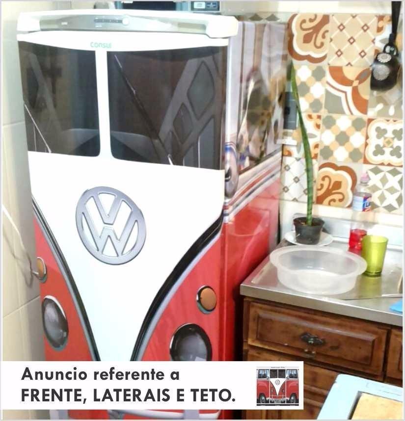 Artesanato Quarto Infantil ~ Adesivo Decorativo Kombi P Geladeira Freezer Cooler Cerveje R$ 197,00 em Mercado Livre