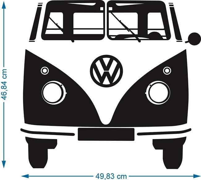Armario Joyero Pared Ikea ~ Adesivo Decorativo Kombi Retr u00f4 Parede Geladeira Quarto R$ 49,99 em Mercado Livre