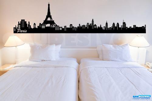 adesivo decorativo londres - madrid - paris 2 metros escolha