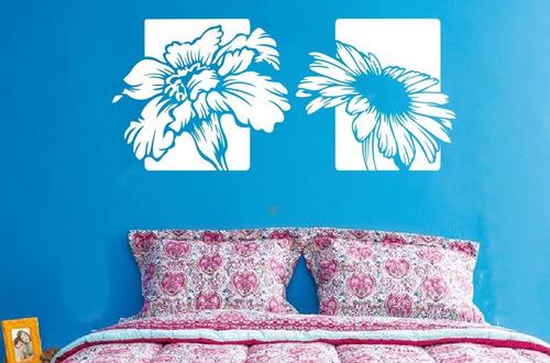 adesivo decorativo luz floral