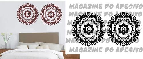 adesivo decorativo mandala recorte 3 (105x52)cm