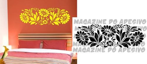 adesivo decorativo margaridas (269x95)cm frete gratis