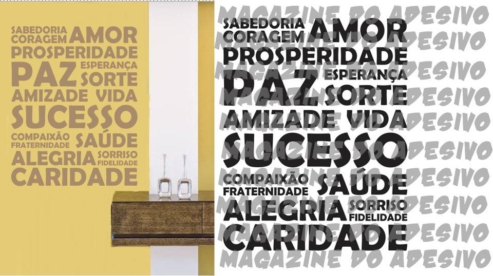 9f108cccc adesivo decorativo palavras positivas (100x79). Carregando zoom.