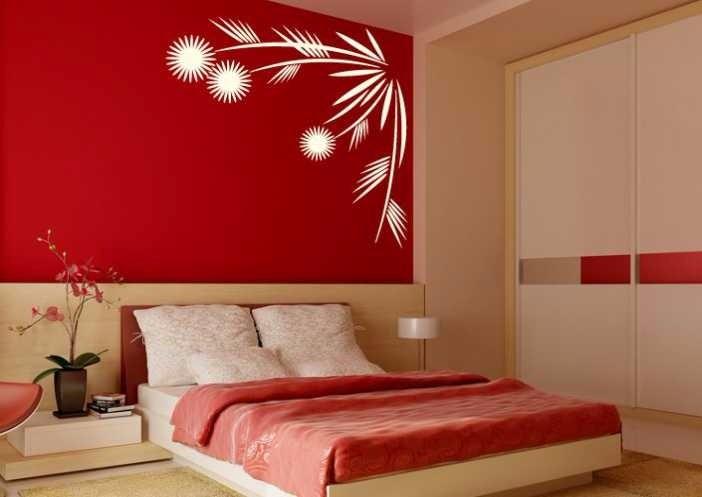 Adesivo decorativo papel de parede quarto floral moderno - Papel de pared moderno ...