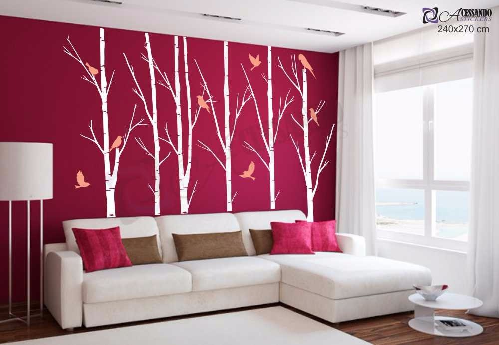 Adesivo decorativo papel parede arvore seca floresta for Papel pared barato