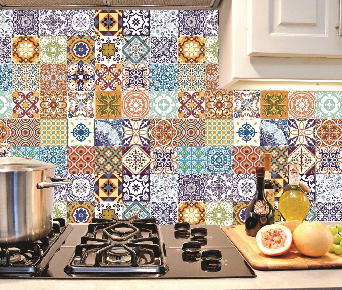 Adesivo Decorativo Papel Parede Azulejo Cozinha 15x15 16un R 25 99 Em Mercado Livre
