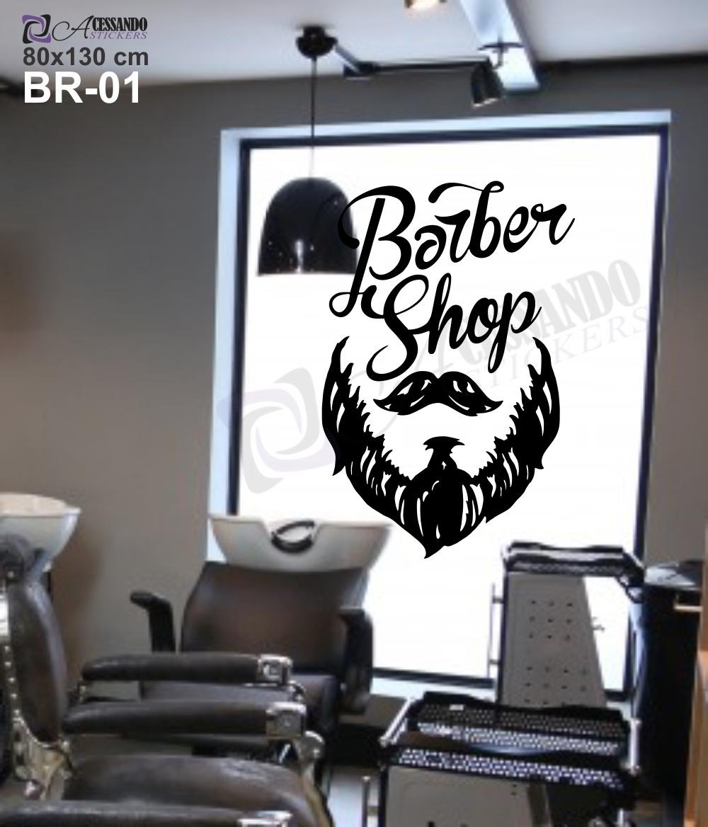 Adesivo De Parede Com Led ~ Adesivo Decorativo Papel Parede Barbearia Homem Promoç u00e3o
