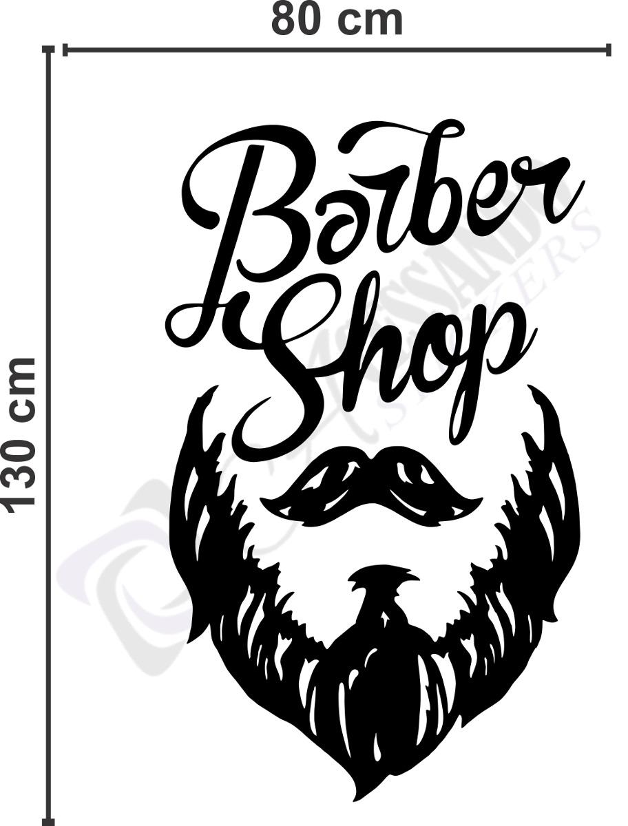 Adesivo Decorativo Papel Parede Barbearia Homem Promoç u00e3o