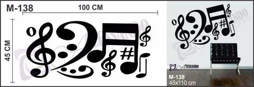adesivo decorativo papel parede notas musicais modernas