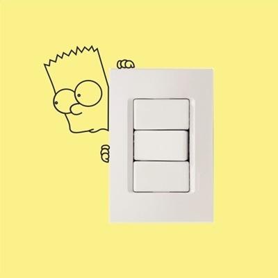 adesivo decorativo para interruptor