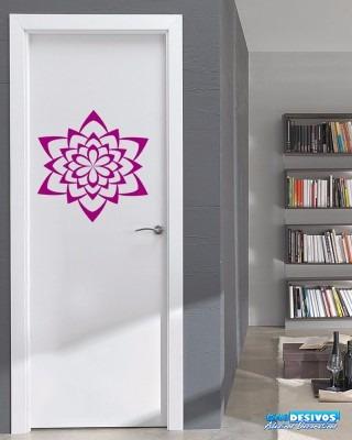 adesivo decorativo para parede mandala grande flor