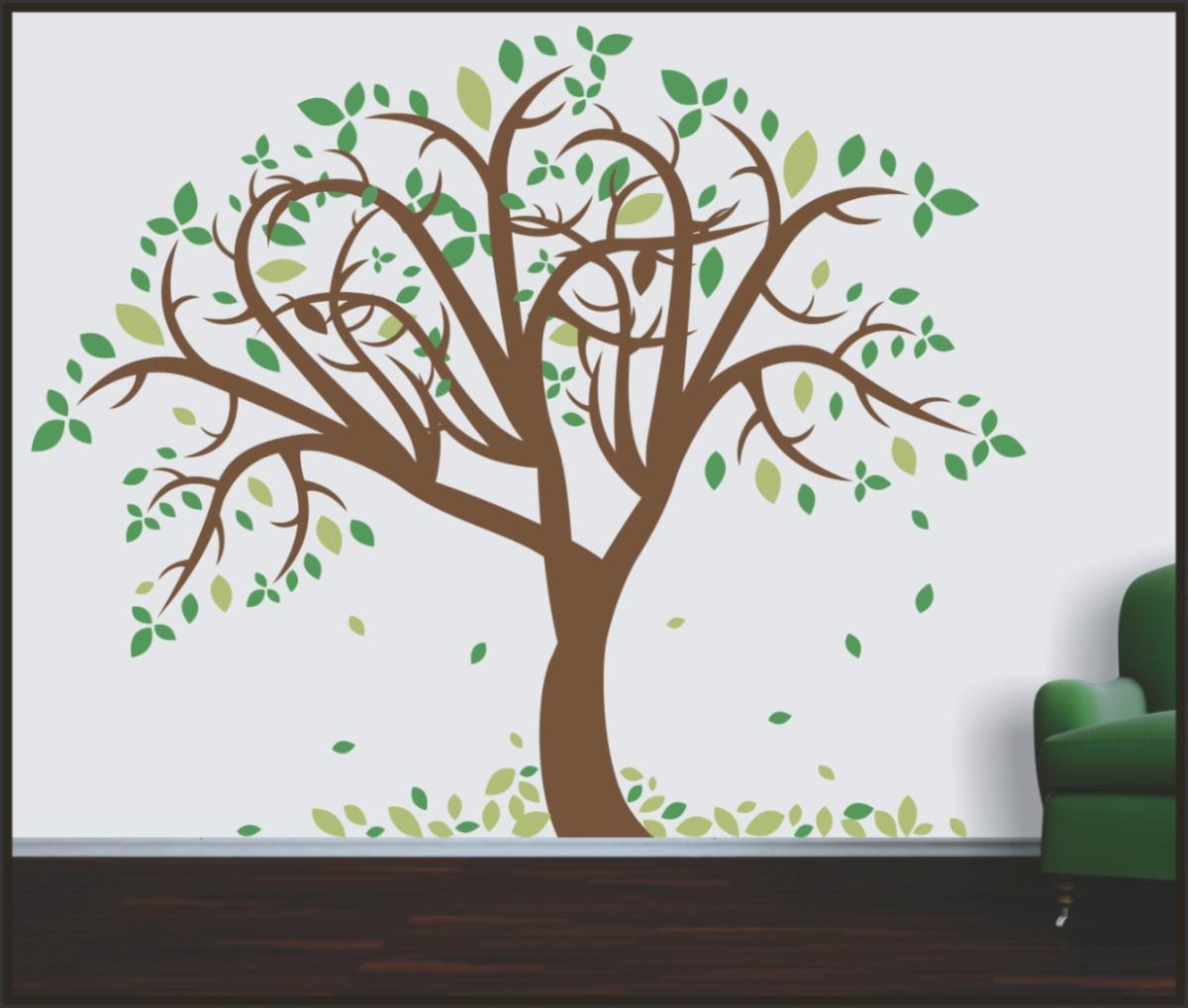 Adesivo Impressão Digita ~ Adesivo Decorativo Para Paredes,Árvore Tipuana Tam P R$ 149,90 em Mercado Livre