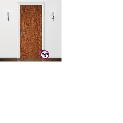 adesivo decorativo para porta - quarto sala banheiro madeira
