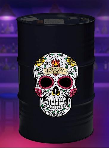 adesivo decorativo para tonel tambor barril 200l