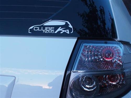 adesivo decorativo parabrisa carro club - clube do onix