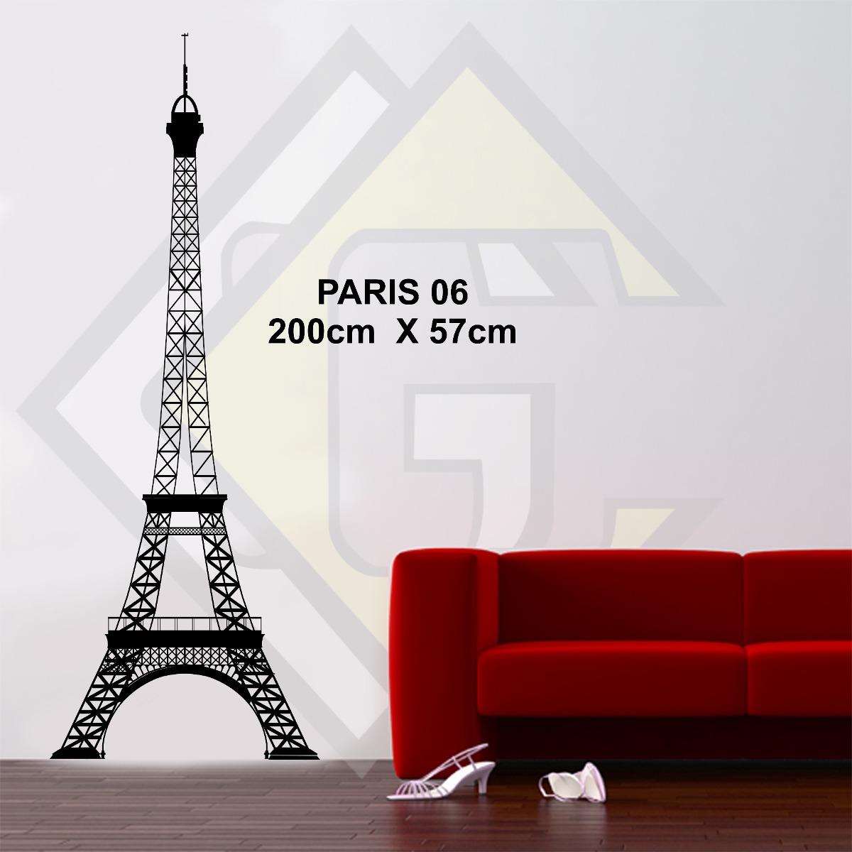 Curso Artesanato Goiania ~ Adesivo Decorativo Parede Ambiente Torre Eiffel 2 Metros Big R$ 85,00 em Mercado Livre