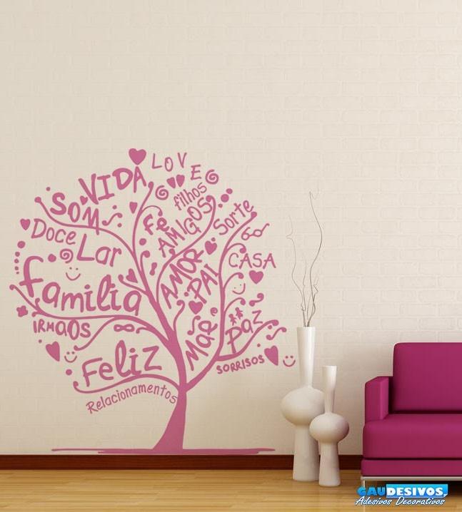 Adesivo Porta De Barbearia ~ Adesivo Decorativo Parede Arvore Com Palavras Love, Familia R$ 86,99 em Mercado L