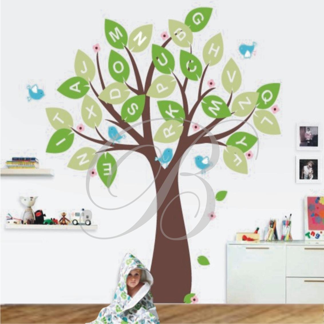 Artesanato Mais Vendido ~ Adesivo Decorativo ParedeÁrvore Galho PássarosÁrvore Flor R$ 129,90 em Mercado Livre