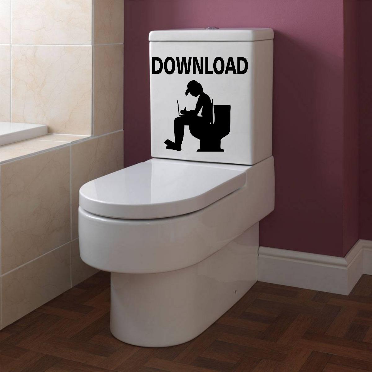 Adesivo Rivastigmina Sus ~ Adesivo Decorativo Parede Banheiro Vaso Sanitário Dowloand R$ 13,99 em Mercado Livre